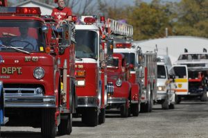 Firetrucks in Parade 2010