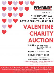 2020 LCDS Valentine Auction Flyer