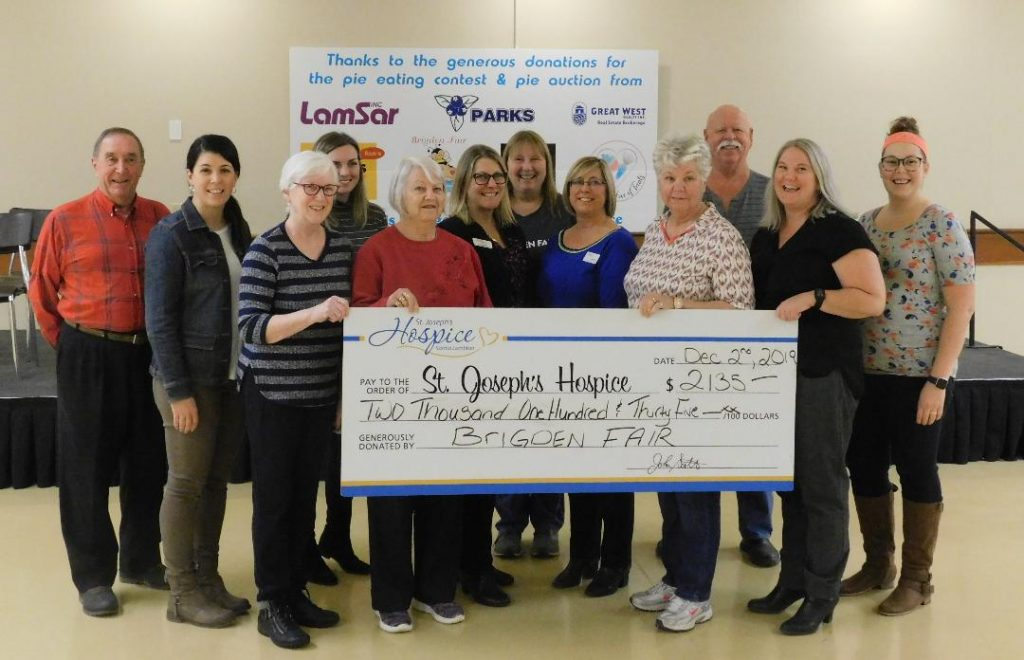 Cheque presentation to St. Joseph's Hospice