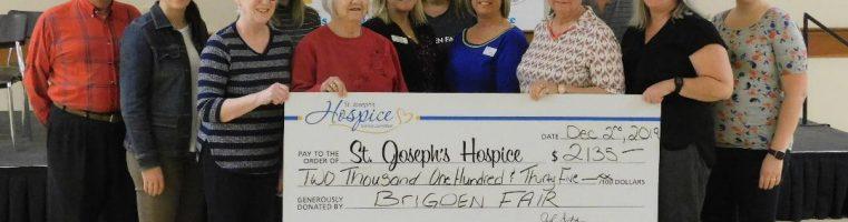 2019 MAS Donation to St. Joseph's Hospice