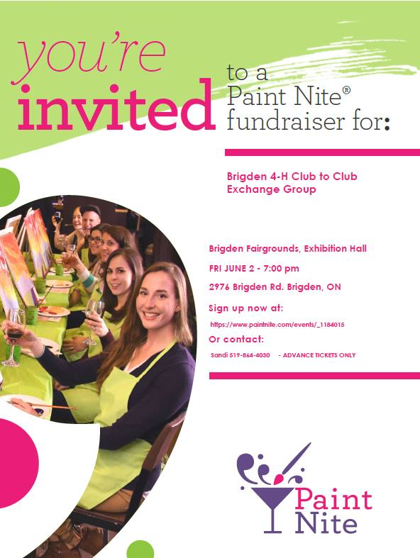 Paint Nite Fundraiser for Brigden 4-H Club Exchange