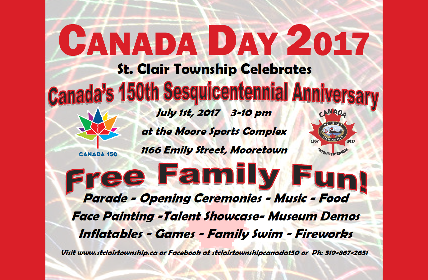 St Clair Township 150th Canada Day Celebrations